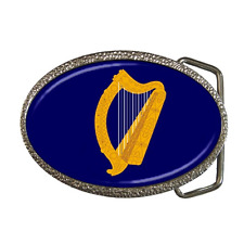 IRELAND EMBLEM IRISH HARP FLAG BELT BUCKLE - GREAT GIFT ITEM
