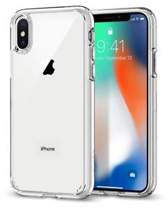 Spigen Coque iPhone X AIR Cushion Transparent/TPU Bumper/Coque Apple X (2017)