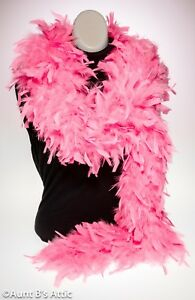 """Feather Boa Bright Pink 68gr 72"""" Long Flapper/Showgirl/ Hollywood Costume Acc."""