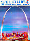 St. Louis Missouri Airplane United States Travel Advertisement Art Poster