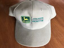 John Deere Boots Equipment Hat Advertising Snapback Tan Embroidered One Size