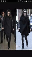 All Saints Hyde Monument Coat Leather Sleeves in Black Size UK 8 BNWT £380