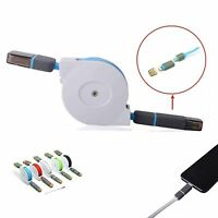 NEW Retractable 2in1 Data Sync Cable USB Charger For i Phone 5S 5 6 6S Plus