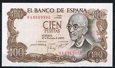ESPAÑA 100 PESETAS 1970 MANUEL DE FALLA Serie 9A   EBC  XF