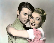 """AUDIE MURPHY & LORI NELSON DESTRY 1954 ACTORS 8X10"""" HAND COLOR TINTED PHOTO"""