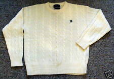 100% Wool CHAPS RALPH LAUREN Off White SWEATER, Large