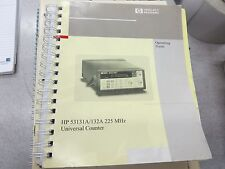 HP 53131A/132A Universal Counter Operating Guide 53131-90055 3112D1