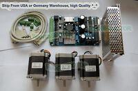 【USA Ship& No Tax】Nema23 Wantai Stepper Motor 270oz-in,3A +3 Axis CNC Cut Kit