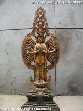 """40""""Tibet Bronze  1000 Arm Hands 11-faced Avalokitesvara Kwam-Yin Buddha statue"""