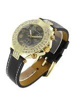 orologio donna bracciale in pelle Nele Fortados - molti strass -.design - A1210