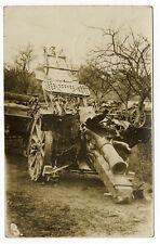 AK Fotokarte IR 91 1917 Feldpost  Artillerie Nahaufnahme Belgien Frankreich