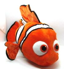 "Disney NEMO Orange & White Clown Fish 18"" long b 9"" tall Finding Nemo Plush"