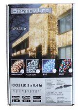System LED Eisregen Lichterkette Lichtervorhang 50er warmweiß 3 x 0,4m 465-46