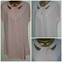 New THREAD Ladies PLUS SIZE Pale PINK Jersey Tunic Top 16 - 26