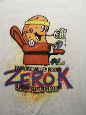 Paridise Valley Resort Zero k white graphic L t shirt