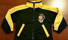 FILA BOYS 2T BLACK GOLD BASKETBALL ZIPUP JACKET 100% POLYESTER SPORTS OLD SCHOOL