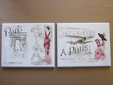 Paris Ladies wall decor plaques bedroom bathroom French bed bath pictures WHITE