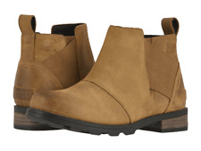 Womens Sorel Sorel Emelie Chelsea Waterproof Ankle Boots - Camel Brown, Size 6.5