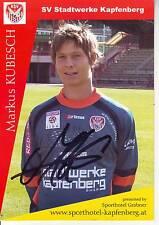 FOOTBALL carte joueur MARKUS KUBESCH équipe SV STADTWERKE KAPFENBERG signée
