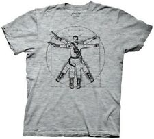 Firefly/Serenity Vitruvian Jayne Heather Grey Adult T-Shirt, New Unworn