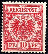 GERMANY -1889 REICHSPOST 10pf  *ROSE CARMINE* - MINT *HINGED* - FULL CV £400
