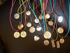 INSPIRATIONAL CHARM ON FAUX LEATHER NECKLACE NEW