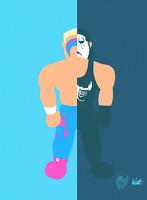 The Sting X The Crow Wrestling Alter Ego Art Series 8x10 WWF WCW