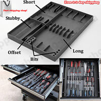 Storage Organizer Tray Rack Tool Screwdriver Holder Tool Sorter