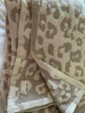 Barefoot Dreams CozyChic In the Wild Throw Blanket STONE/CREAM