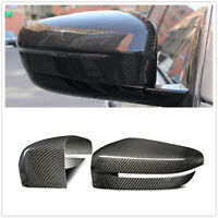 For BMW G11 G12 G30 G31 Real Carbon Fiber Door Side Mirror Cover Cap Add On W