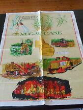 VINTAGE COTTON/LINEN AUSTRALIAN SOUVENIR TEA TOWEL * FAIRYMEAD HOUSE BUNDABERG