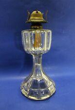 Antique Tall Clear Glass Oil Kerosene Lamp Eagle Burner