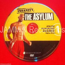 INSANITY - THE ASYLUM - Athletic Performance Assessment - DVD #1 (1 DVD ONLY)