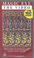 VHS Magic Eye the video over 100 images 3D illusions vintage 1994 32mins