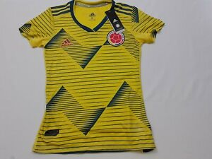 NWT Adidas Colombia World Cup Soccer Futbol Jersey 2019-20 Youth Girls Sz Small