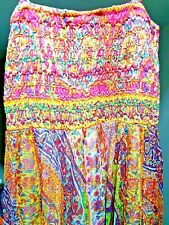 Fabuloso coloridas Maxi vestido gasa con Cuentas por Derhy-BNWT-Talla L