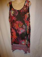 AUTOGRAPH Red floral crinkle sleeveless tunic Dress SZ 14