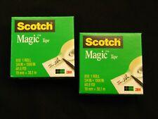 """2 Rolls Genuine 3M Scotch Magic Tape Jumbo Rolls 2 Rolls 3/4"""" x 1500"""""""