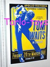 TOM WAITS - Londra, Uk - 20 marzo 1981  poster concerto