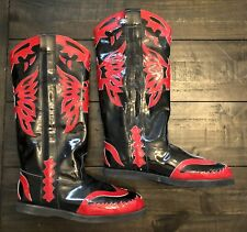 Pro Wrestling Boots! Cowboy Style, Brand New, Size 11 Patent Leather! Wwe, Aew!