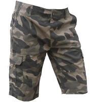 Mens Designer Woodland Shorts Camo Trouser Work Combat Army Camouflage bdu Cargo