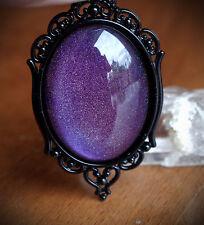 Purple Holo Galaxy Ornate Black Necklace Lolita/Goth/Alt/Grunge/EDM/Emo/Festival