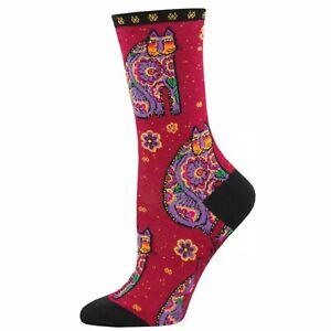 No Boring Socks Thanks Red Cat Laurel Burch 9-11 Sock Smith 1 Pair