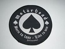 MOTORHEAD BORN TO LOSE LIVE TO WIN WOVEN PATCH