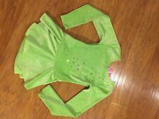 Mondor Girls Skating Dress 8-10 Glitter Green Used Competition