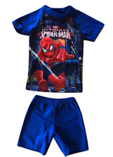L C Boutique Boys 2 Piece Rash Guard Set Spiderman SPF Sun Protection Sizes 2-11