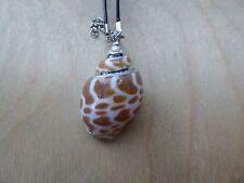 Empowering Jewelry Black Necklace Silver Tone Sea Shell Pendant Theme Conch Boho