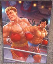 Rocky Balboa vs Ivan Drago Glossy Art Print 11 x 17 In Hard Plastic Sleeve