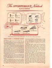 1964 Trout Flies Starters Dozen HG Tapply Fly Fishing  Vintage Print Ad