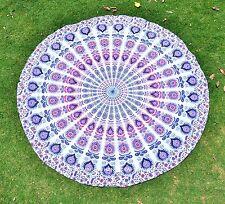 Indian Mandala Round Roundie Beach Throw Blanket Tapestry Hippie Boho Yoga Mat